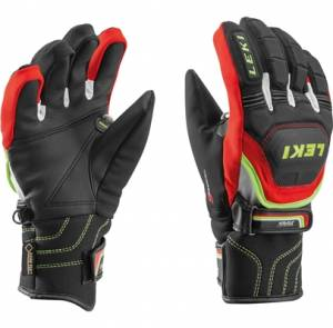 Rukavice Leki WC Race Coach Flex S GTX Jr. black-red